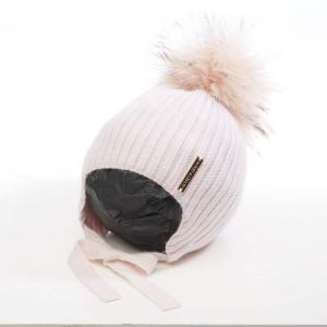Honey & Lemon Beanie Comfy Single Pompom 3-18 m Baby Pink