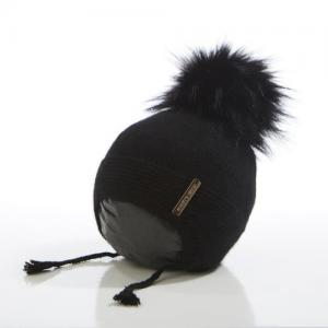 Honey & Lemon Beanie Bunny Single Pompom Black 3-18 months