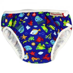 ImseVimse Swim Diaper For Babysim - Blue Sealife