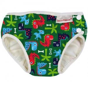 ImseVimse Swim Diaper For Babysim - Green Dino