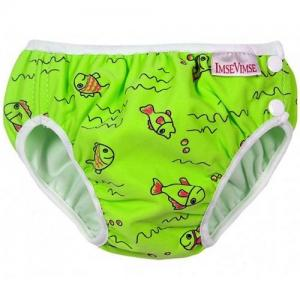 ImseVimse Swim Diaper For Baby Swim - Green Fish