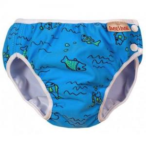 ImseVimse Swim Diaper For Babysim - Turquoise Fish