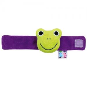 Jabadabado Wrist Rattle Frog Green & Purple