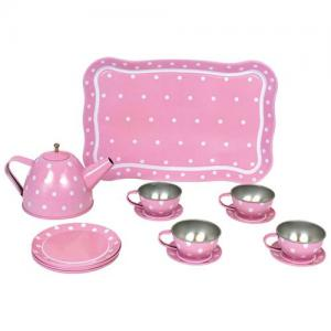 Jabadabado Tin Tea Set With Bag Pink