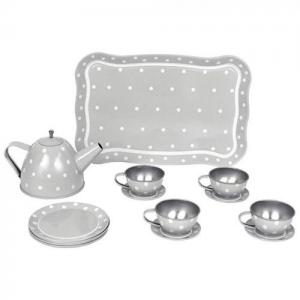 Jabadabado Tin Tea Set With Bag Grey