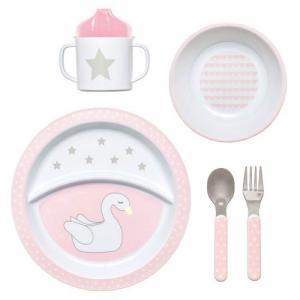 Jabadabado Dinnerware Swan Pink