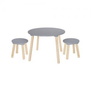 Jabadabado Tables & 2 Stools Grey