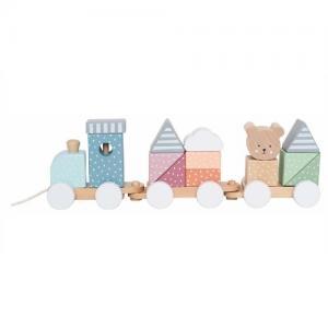 Jabadabado Dragleksak Tåg Med Klossar Teddy