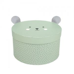 Jabadabado Storage Box Teddy Small Green