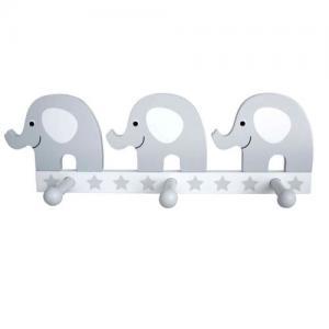 Jabadabado Hängare 3 Krokar Elefant Grå