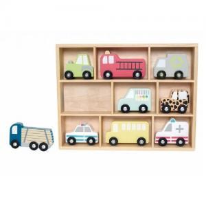 Jabadabado Shelf with Toy Cars 9 pcs