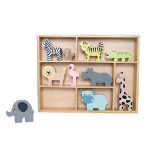 Jabadabado Shelf with 10 Safari Animals