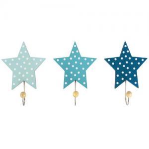 Jabadabado Krokar Stjärna Blå 3 st