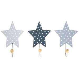 Jabadabado Krokar Stjärna Grå 3 st