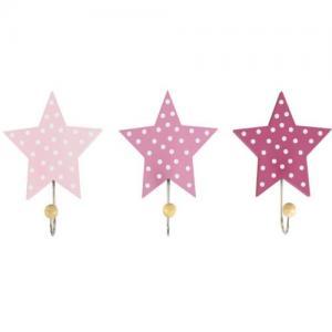 Jabadabado Krokar Stjärna Rosa 3 st