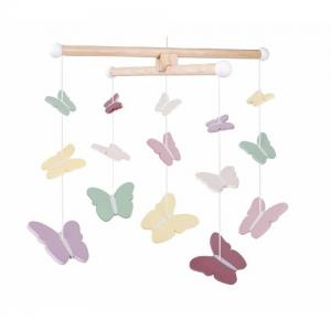 Jabadabado Wooden Mobile Butterfly Mixed Colors