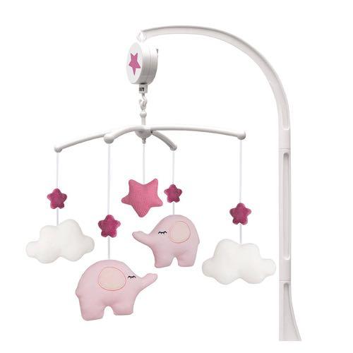 Jabadabado Music Mobile Elephant Pink