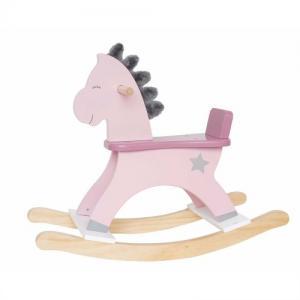 Jabadabado Wooden Rocking Horse Pink