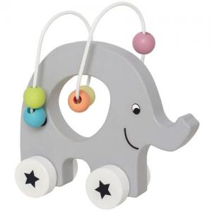 Jabadabado Push Animal Elephant With Abacus Color Line