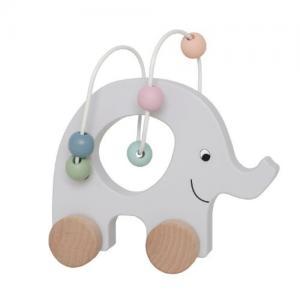 Jabadabado Rulldjur Elefant Med Kulram Ny
