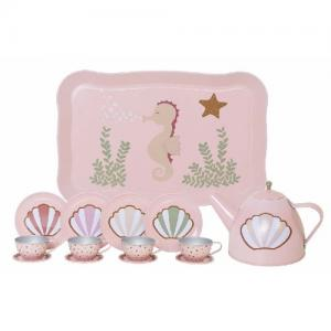 Jabadabado Tea Set Sea Horse Pink