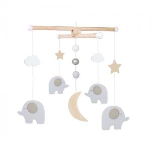 Jabadabado Wooden Mobile Elephants
