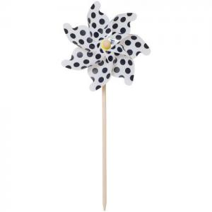 Jabadabado Pinwheel Large Black White