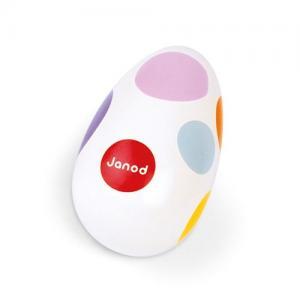 Janod Maracas Egg Confetti White with Dots