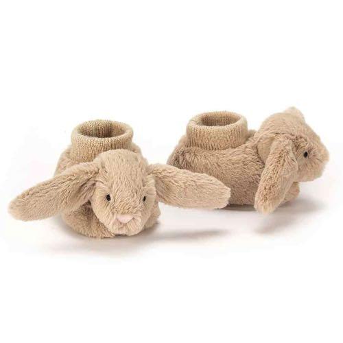 Jellycat Babytofflor Beige Kaniner Bashful Beige Bunny Booties