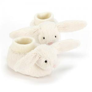 Jellycat Babytofflor Vita Kaniner Bashful Cream Bunny Booties