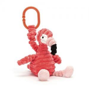 Jellycat Barnvagnshänge med Gosedjur Cordy Roy Flamingo Jitter