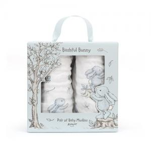 Jellycat Cotton Blanket Bashful Bunny 2-pack 70x70 cm Blue