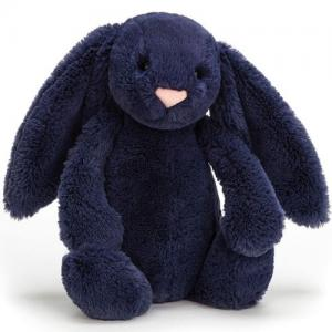 Jellycat Stuffed Animal Bashful Navy Blue Bunny Medium