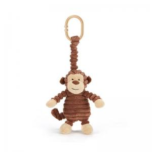 Jellycat Stroller Hanging Pendent With Stuffed Animal Cordy Roy Monkey Jitter