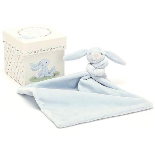 Jellycat Cuddly Bunny Present Box Blue