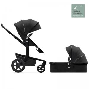 Joolz Day3 Brilliant Black Complete Pushchair with Carry Cot & Seat