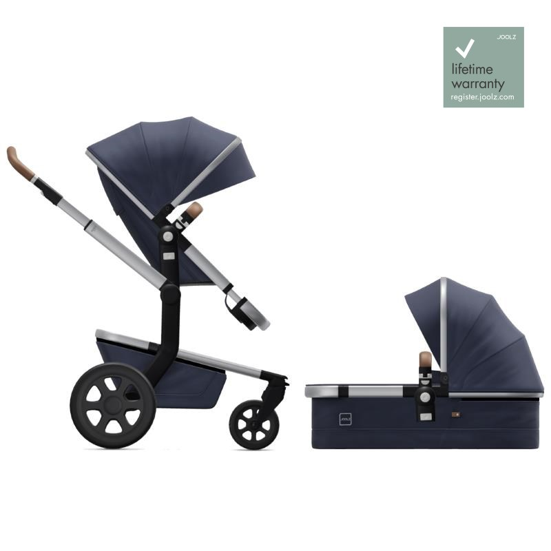 Joolz Day3 Classic Blue Complete Pushchair with Carry Cot & Seat