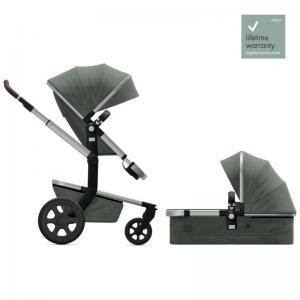 Joolz Day3 Marvellous Green Complete Pushchair with Carry Cot & Seat