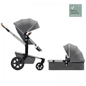 Joolz Day3 Radiant Grey Complete Pushchair with Carry Cot & Seat