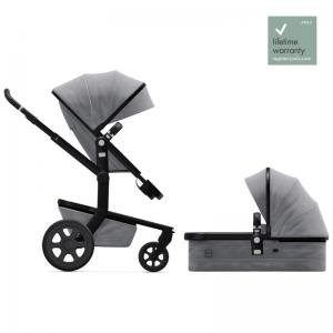 Joolz Day3 Superior Grey Complete Pushchair with Carry Cot & Seat