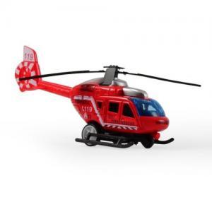Magni Helikopter City Med Pullback Röd