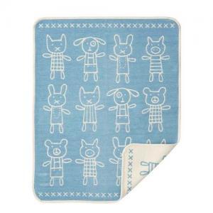 Klippan Yllefabrik 100% Organic Cotton Chenillefilt Hug Blue
