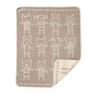 Klippan Yllefabrik 100% Organic Cotton Chenillefilt Hug Grey