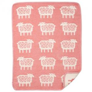 Klippan Yllefabrik, 100 % Organic Cotton Chenille, Sheep - Pink