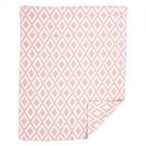 Klippan Yllefabrik 100 % Borstad Organisk Bomullsfilt Diamonds Baby Pale Pink