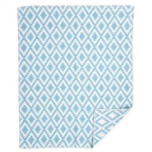 Klippan Yllefabrik 100% Borstad Organic Cotton Filt Diamonds Baby Turquoise