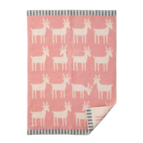 Klippan Wool factory 100% Organic Wool Blanket Dear Pale Pink