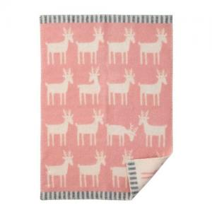 Klippan Yllefabrik 100 % Ekologisk Ullfilt Dear Pale Pink Rosa