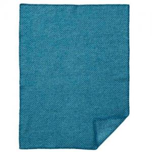 Klippan Wool factory 100% Organic Wool Blanket Domino Baby Petrol