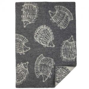 Klippan Wool factory 100% Organic Wool Blanket Iggy Piggy Punky Grey